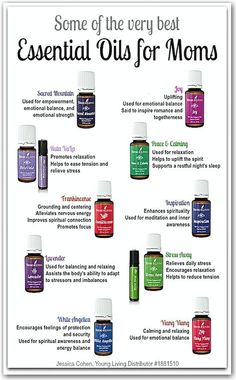 Some of the Best Essential Oils for Moms-- I need some of these! Peace & Calming, take me away! via EatSleepBe.com