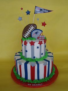 New England Patriots Cake by CakesUniqueByAmy.com, via Flickr
