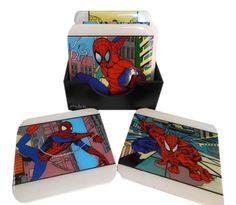 Posavasos de Spiderman Pintados a mano Acrilico / MDF