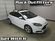 Ford Focus ST Hatchback Rhino-Rack 2500 RS Vortex Aero BLACK Base Roof Rack '11-'15*