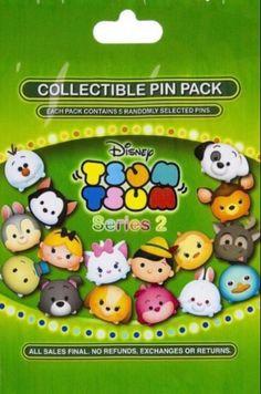 Disney Pins Character Tsum Tsum Series 2 Pin Pack Set