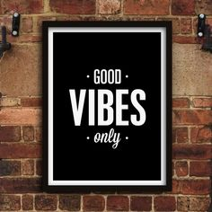 Good Vibes Only http://www.notonthehighstreet.com/themotivatedtype/product/good-vibes-only-print @notonthehighst #notonthehighstreet