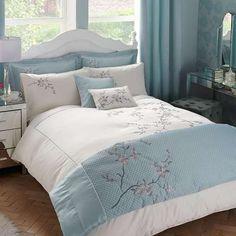 Duck Egg Misaki Bed Linen Collection | Dunelm