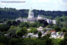 State Capitol Building At Augusta Maine ME
