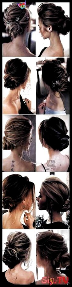 Wedding Hairstyles Medium Length Simple Messy Buns 16 Ideas Wedding Hairstyles M..., #buns #H... #Buns #Hairstyles #Ideas #Length #Medium #Messy #Simple #Wedding #wedding guest hairstyles medium<br> Hairdo Wedding, Wedding Guest Hairstyles, Short Wedding Hair, Medium Hair Styles, Short Hair Styles, Low Updo, Chic Hairstyles, Messy Buns, Loose Curls