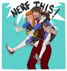 """darkelfslair: """" Who needs a Meka when you have a gf like this. Overwatch Comic, Overwatch Fan Art, Doom Fist, Brigitte Lindholm, Overwatch Females, Overwatch Drawings, Dv A, Paladin, Video Games"""