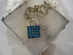 Swarovski Lock and Key Purse/Key Chain by MyCrystalAddiction, $50.00