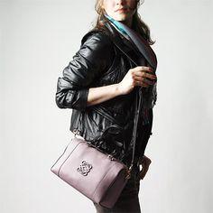 LOEWE 2WAY leather handbag FUSTA bronse lavender×brown (ロエベ 2WAY レザーハンドバッグ フスタ ブロンズ ラベンダー×ブラウン) #31626 F27 6140