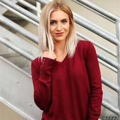 #Jane.com - #Obsessions Boutique Button Sleeve V-Neck Sweater / 8 Colors - AdoreWe.com