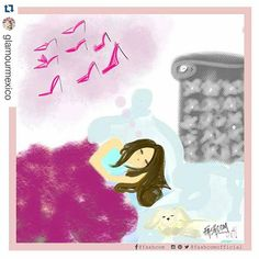 You can dream better counting shoes  • Comic for @glamourmex  • Las Glamourettes no contamos ovejas...  | Cómic by @fashcomofficial • #PinkQuote #instaquote #girlstuff #illustration #shoes #comic #fashion #dream #sleep #fashioncomic #fashcom