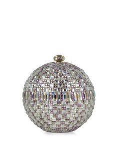 V1UCY Judith Leiber Couture New Sphere Crystal Minaudiere, Multicolor