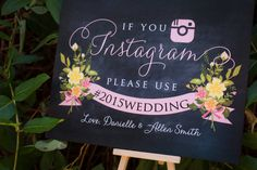 If you Instagram sign Instagram wedding sign Custom by TheFindSac
