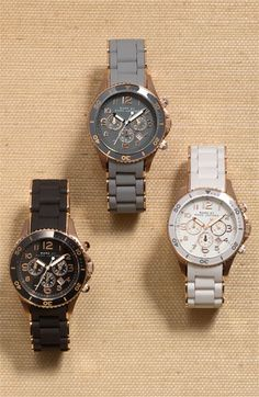 Marc by Marc Jacobs Watches- love the white and grey one.