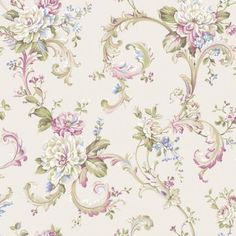 Floral Scroll | Wallpaper Warehouse