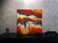 moskvaart / Inferno - 70 x 70 cm - akryl Shower, Prints, Painting, Art, Rain Shower Heads, Art Background, Painting Art, Showers, Paintings