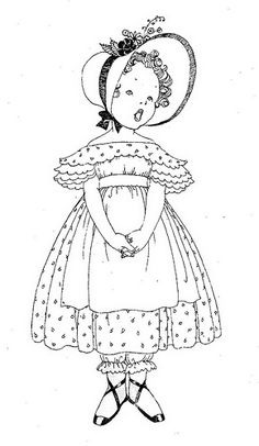line drawing little girl singing | Flickr - Photo Sharing!