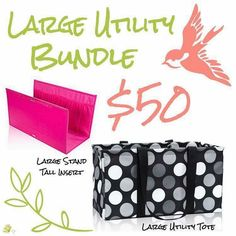 Get both a new large utility tote plus an insert for it! Thirty One Party, Thirty One Bags, Thirty One Gifts, 31 Party, Large Utility Tote, Thirty One Consultant, 31 Gifts, 31 Bags, Facebook Party