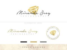 Jewelry logo design Diamond premade logo package Geometric