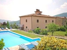 Villa Adreina    a.       3660 sq ft (big!)    b.      Location is 100km+ from Florence    c.       2 houses – nice pool – great patios on both houses    d.      Hot tub looks nice    e.      Looks like we could let the kids loose and they couldn't get into any trouble.