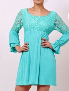 Mint Lace Cowgirl Dress perfect for a country wedding $35.00