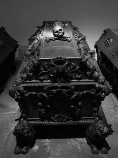 Cask from the Imperial crypt in Vienna. More memento mori for an upcoming book Memento Mori, La Danse Macabre, Cemetery Art, Cemetery Statues, After Life, Gothic House, Casket, Coffin, Dark Art