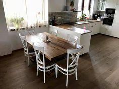 Masa bucatarie lemn masiv Modern, Table, Shopping, Furniture, Home Decor, Homemade Home Decor, Trendy Tree, Tables, Home Furnishings