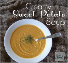 This Creamy Sweet Potato Soup is so rich and delicious it is hard to believe that it's healthy. Low in fat and calories, and full of flavor.