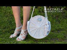 How to Crochet Lunaria Round Bag - Handbag and Purse by Naztazia - YouTube