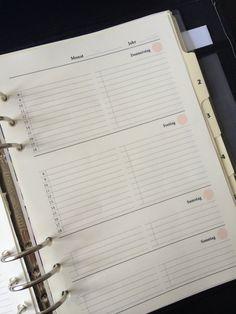 UNDATIERT Filofax A5 Woche zwei Seiten Printable von AyumisPlanner
