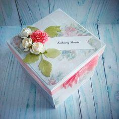Różany exploding box na Dzień Mamy