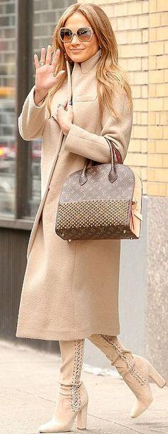 Jennifer Lopez Louis Vuitton Bag Fall Street Style Inspo