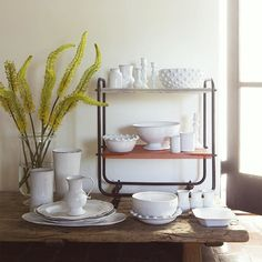 Céramiques Blanches   A small assortment of @astierdevillatte serveware and vases available at the shop. #ceramics