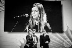 Emilia Grochowska, Młody Kreatywny Branży Eventowej 2013, oraz jurorzy konkursu: Bogdan Wąsiel (Jet Events) i Paweł Lewicki (Kierunkowy 22). 25 kwietnia 2014, MP Power Night, Stadion Narodowy w Warszawie.