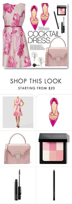 """""""Cocktail Dress"""" by beebeely-look ❤ liked on Polyvore featuring Joseph Ribkoff, Christian Louboutin, Alexander McQueen, Bobbi Brown Cosmetics, MAC Cosmetics, country, floralprint, cocktaildress, StreetChic and premiereavenue"""