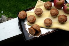 Morning glory muffins (made with pineapple, carrots, pecans and apple sauce) | Hilary Makes