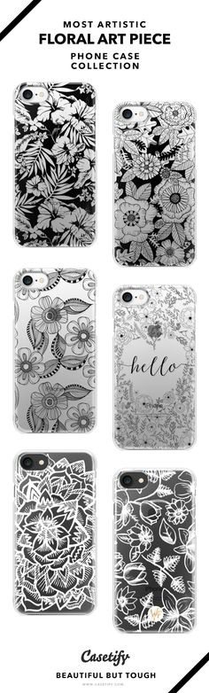 Most Artistic Floral Tattoo Phone Case Collection - iPhone 6/6s/7/7+ AND MORE! Shop them here ☝️☝️☝️ BEAUTIFUL BUT TOUGH ✨  - Tattoo, Ideas, Flower, Art, DIY, Drawing, Doodle, Craft, Monochrome, Black and White