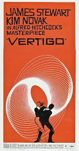 """movieposteroftheday: """"US three-sheet poster for VERTIGO (Alfred Hitchcock, USA, Designer: Saul Bass Poster source: Heritage Auctions Read more about Saul Bass and the posters for. Saul Bass, Classic Movie Posters, Classic Movies, French Posters, Vintage Posters, Cinema Posters, Film Posters, Vertigo, Vintage Movies"""