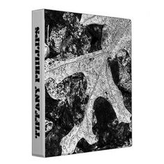 Beautiful Black and White Leaf Sketch 3 Ring Binder - black and white gifts unique special b&w style