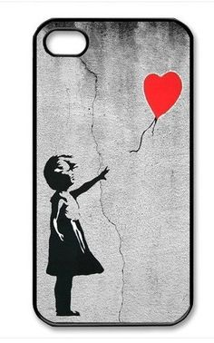 Banksy Girl with Red Balloon iPhone 4 Case, iPhone 4s Case, iPhone 4 Hard Case, iPhone Case-graphic Iphone case
