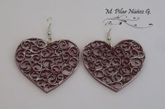 Crea Quilling - Quilled Heart Earrings - by: Pilar Nunez - Chili
