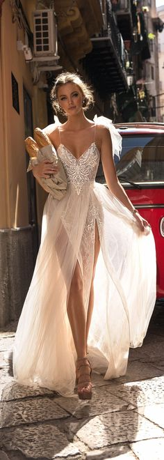 MUSE by Berta : Sicily Wedding Dress Collection MUSE by Berta Bridal Collection is an ultra-chic bridal collection of fabulous wedding dresses that are trendy by design but timeless in essence. Bridal Dresses, Wedding Gowns, Lace Wedding, Wedding Beach, Wedding Dress 2018, Wedding Ceremony, Spring Wedding, Wedding Bridesmaids, Wedding Shoes
