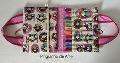 Pinguinho de Arte: Bolsinha Porta Lápis