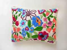 embroidery handmade cushions - Google Search