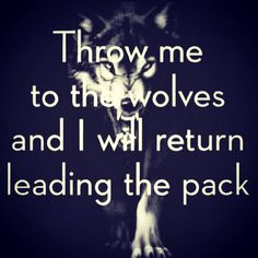 Inspiration, can't nobody take my pride, can't nobody hold me down. Motivational quotes, rise above the negativity. Wolves