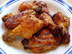 Baked chicken wings in a sweet and zesty Buffalo Sauce that ya just can't stop eating.