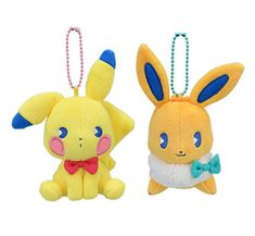 Pokemon Center Original plush Pikachu /& Eievui/'s Easter Eevee /& pikachu Toy 2pcs