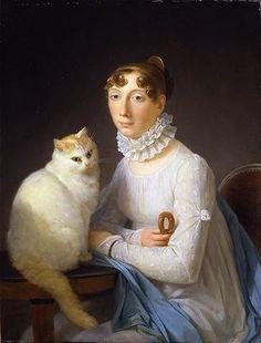 La dame avec son chat, Marguerite Gerard