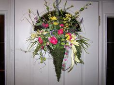 BEAUTIFUL SPRING WREATH  Moss Covered Twig by CustomFloralDesigns, $89.95