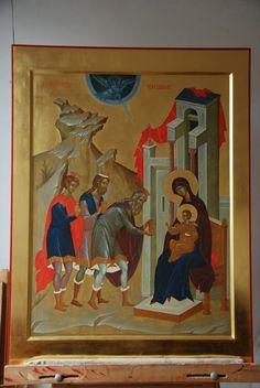Byzantine Icons, Byzantine Art, Religious Paintings, John The Baptist, High Art, Orthodox Icons, Color Pallets, Fresco, Catholic