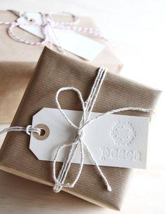 Letterpress Christmas Gift tags from fluidinkletterpress